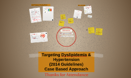 Copy of Targeting Dislipidemia & Hypertension, 2014 guidlines