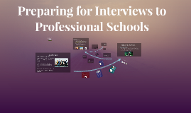 Tips for Interviews to Professional Schools