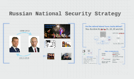 Russian National Security Strategy