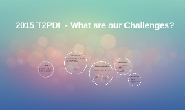 2015 T2PDI  - What are our Challenges?