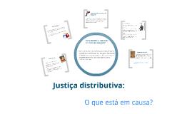Justiça distributiva: o que está em causa?