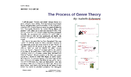 The Process of Genre Theory