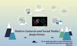 Modern Guitarist and Social Media | Janja Ferenc