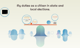 My duties as a citizen in state and local elections.