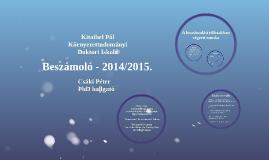 Beszámoló - 2014/2015.