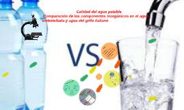 Calidad del agua potable