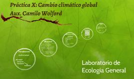Práctica X: Cambio climático global