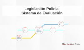 Organización Legislación Policial
