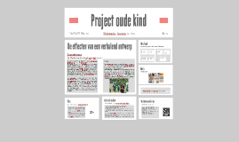 Project oude kind