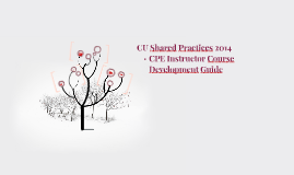 CU Shared Practices 2014