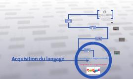 Copy of Acquisition du langage
