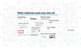 Copy of Ting å tenke på før og i risikovurderingen