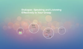 Dialogue: Speaking and Listening Effectively in Your Group