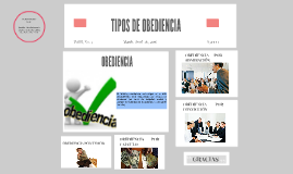 Copy of TIPOS DE OBEDIENCIA