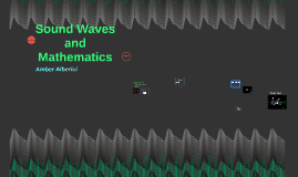 Sound Waves and Math