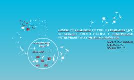 GESTÃO DE QUALIDADE DE VIDA NO TRABALHO (QVT) NO SERVIÇO PÚB
