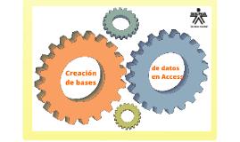 Creación de bases de datos con Access