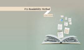 Fry Readability Method