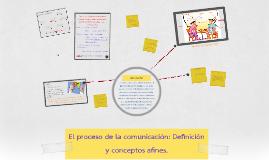 Copy of El proceso de la comunicación: Definición y conceptos afines