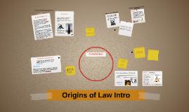 Origins of Law Intro
