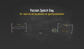 Passion Speech #2