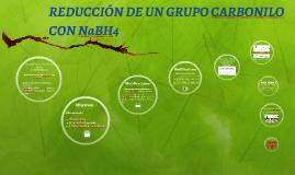 REDUCCIÓN DE UN GRUPO CARBONILO CON NaBH4