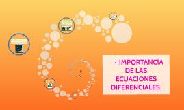 Importancia de las ecuaciones diferenciales