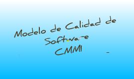 Modelo de Calidad de SW - CMMI