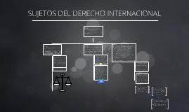 Copy of SUJETOS DEL DERECHO INTERNACIONAL