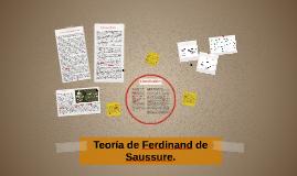 Teoría de Ferdinand de Saussure.