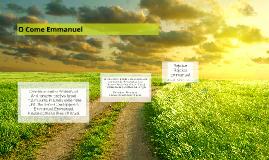 O Come Emmanuel Lyrics