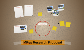 MRes Research Proposal