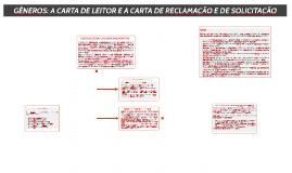 GÊNEROS: A CARTA DE LEITOR E A CARTA DE RECLAMAÇÃO E DE SOLICITAÇÃO