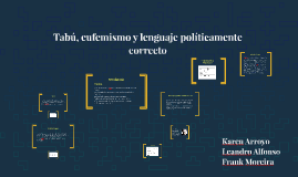Tabú, eufemismo y lenguaje políticamente correcto
