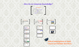 How do we Generate Knowledge?