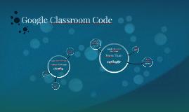 Google Classroom Code