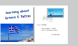 Copy of learning about Greece