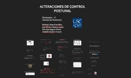 ALTERACIONES DE CONTROL POSTURAL