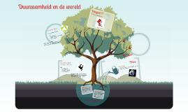 Duurzaamheid en de wereld