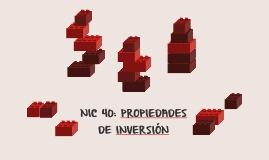 NIC 40: PROPIEDADES DE INVERSIÓN