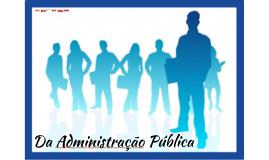 Da Administração Pública