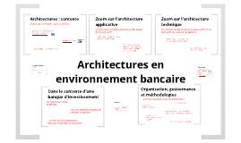 Architectures en environnement bancaire