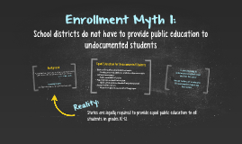 Enrollment Myth 1: