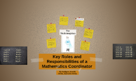Copy of Copy of Copy of Roles and responsibilities of a maths coordinator.
