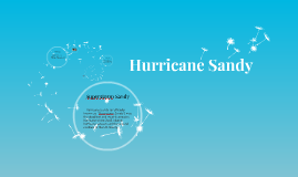 Copy of Hurricane Sandy