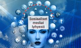 Yleisimpiä sosiaalisen median sovelluksia esiteltyinä.
