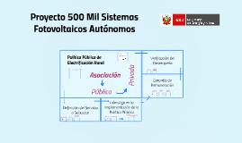 Febrero 2015 Proyecto 500 mil sistemas fotovoltaicos autónomos