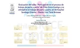 """01 Evaluación taller """"Participando en el proceso de trabajo de parto y parto"""", HSO, 2015"""
