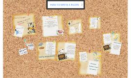 Copy of Copy of How to write a recipe