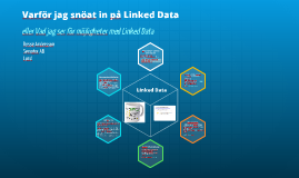 Varför jag snöat in på Linked Data